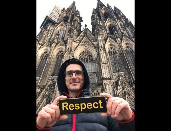 Auf der Domplatte in Köln